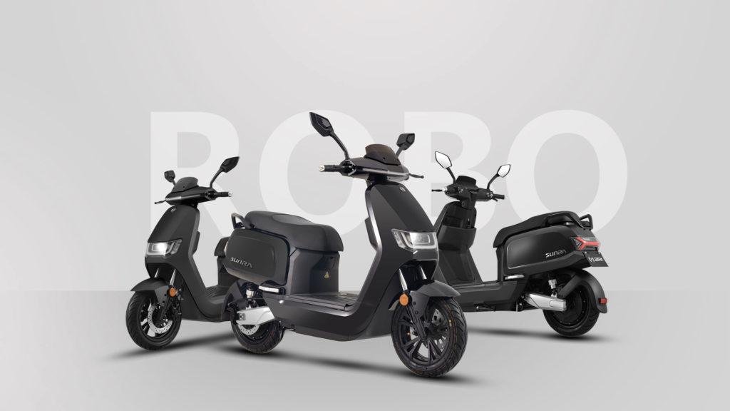 Photo différentes vues du scooter Sunra Robo