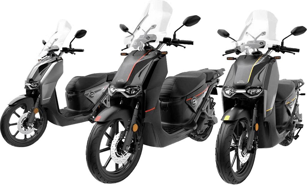 Présentation différentes couleurs scooter électrique Super Soco CPX